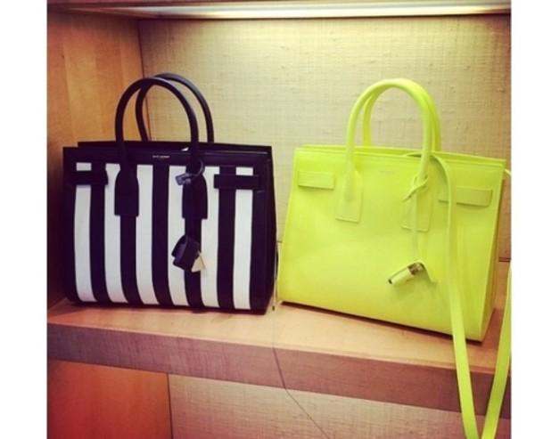 bag black&white /neonyellow must have #pretty handbag