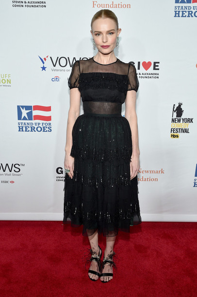 dress midi dress black dress lace dress see through sandals kate bosworth
