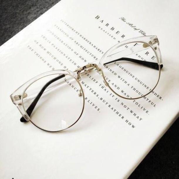 sunglasses, fakeglasses, see through, glasses, plastic, white ...