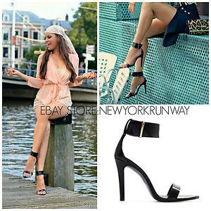 Zara New Black Ankle Strap Heels Sandals Size 6 5 7 5 8 9 | eBay