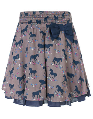 Belle Horse Print Skirt | Camel | Monsoon