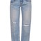 Straight boy mid-rise cropped jeans