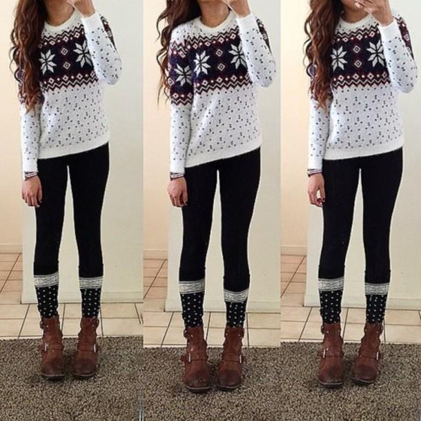 sweater snowflake winter sweater christmas sweater