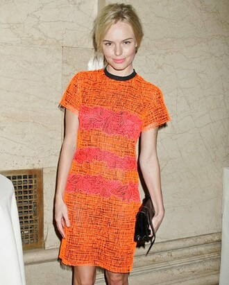 kate bosworth orange dress pink dress dress