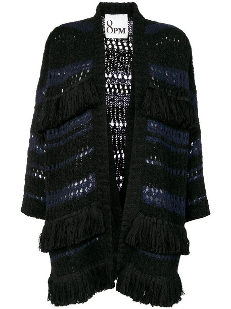 8pm cardigan cardigan open women mohair black wool sweater