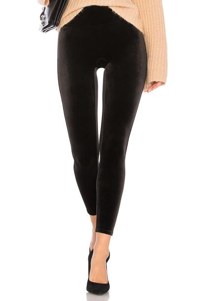 Spanx velvet black pants