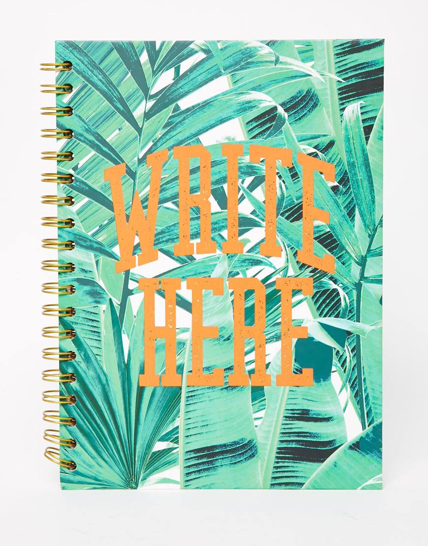 Paperchase Let's Squawk Slogan Wiro Notebook at asos.com