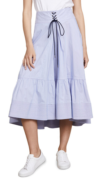 skirt victorian white blue