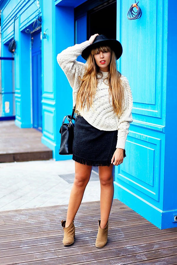 fringe and frange blogger skirt shoes bag monoprix