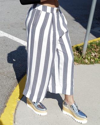 pants culottes pleated pleated pants pleated culottes stripes striped pants striped culottes