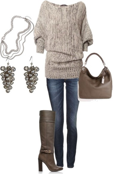 brown shoes cute shoes sweater bag clothes jumper cosy sweaters pajamas top winter sweater winter outfits