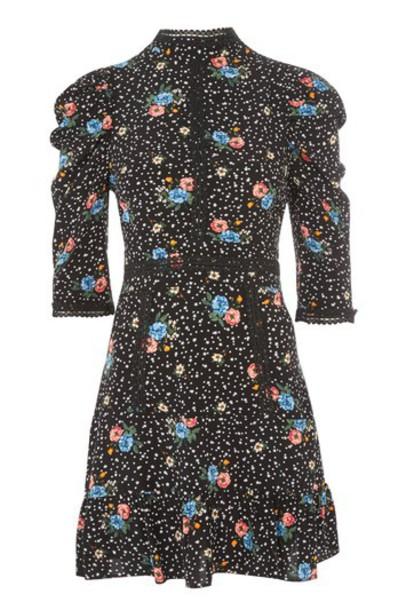 Topshop dress mini dress mini lace floral black