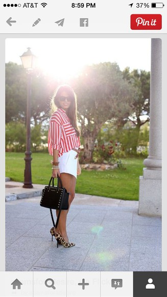 blouse button up blouse stripes
