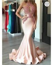 dress,prom dress,pink dress,sequins,mesh,mermaid prom dress,blush pink sparkle dress,lace dress