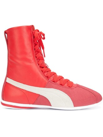 women sneakers lace leather red shoes