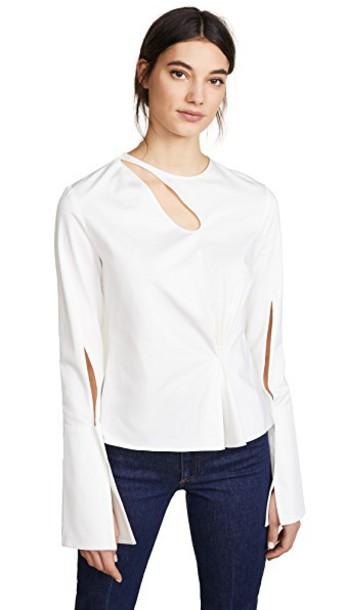 Hellessy blouse slit top