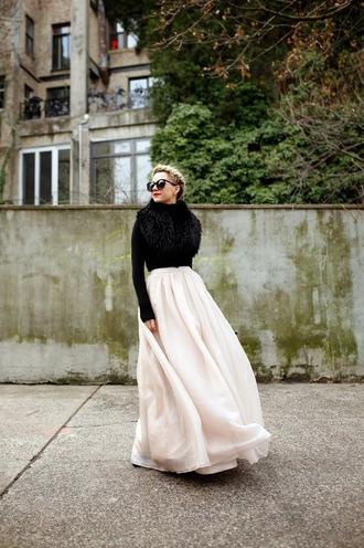 atlantic pacific blogger skirt maxi skirt winter outfits bag