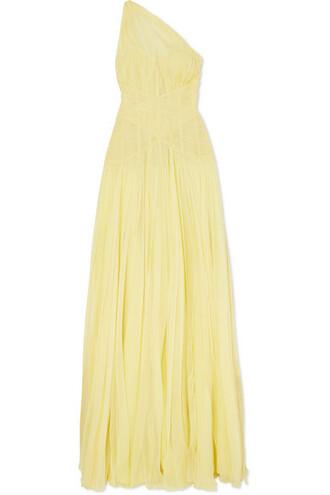 gown chiffon pastel silk yellow pastel yellow dress