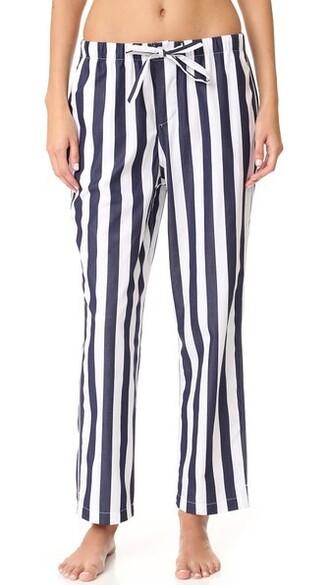 pants pajama pants navy white
