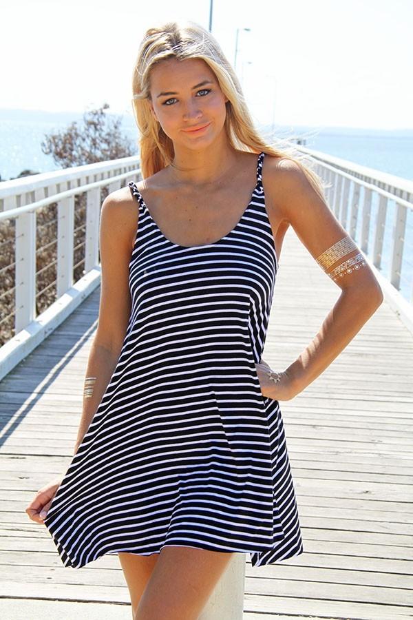 Black & white haven swing dress