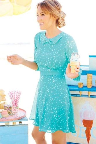 dress lauren conrad peter pan collar collared dress mint dress stars