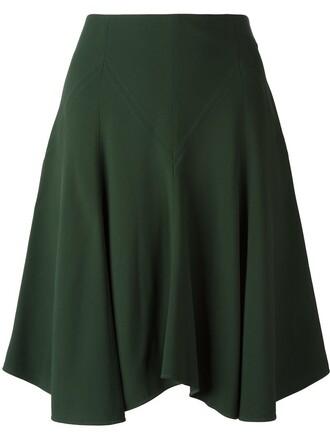 skirt pleated skirt pleated green
