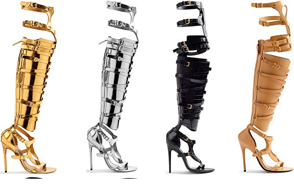 tom Womens Strappy Stud Buckle Knee High rihanna Gladiator Stiletto Heel Pumps Sandals  ford strappy buckle sandal boots rihanna-in Boots from Shoes on Aliexpress.com