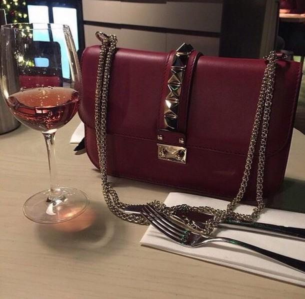 bag red rivets instagram luxury