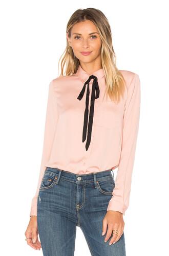 blouse classic blush top