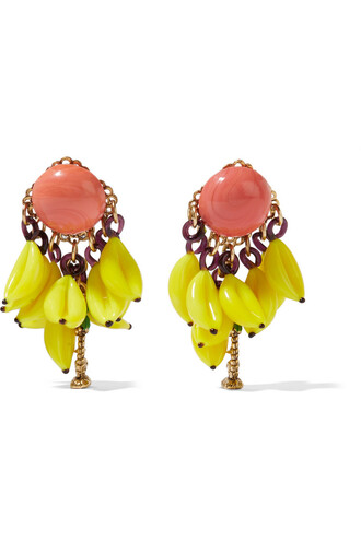 earrings gold yellow jewels