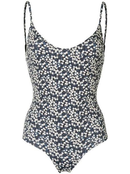 Matteau - The Scoop Maillot swimsuit - women - Nylon/Spandex/Elastane - 3, Blue, Nylon/Spandex/Elastane