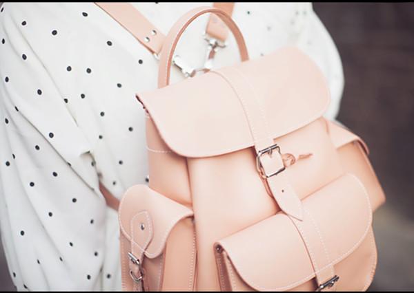 bag backpack pastel pink pastel bag