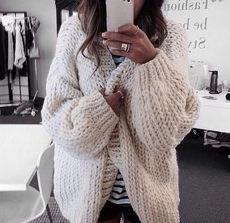 cream cardigan oversized cardigan cozy beige knitted sweater cozy sweater wool grey cardigan
