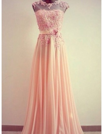 dress pink dress vintage retro gown floral date date dress