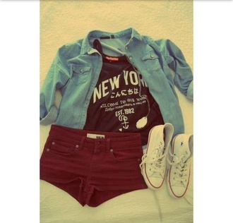 shorts tank top jacket t-shirt top new york