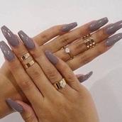 nail polish,nails,acrylic nails,acrylics,jewellery rings,gold,jewelry