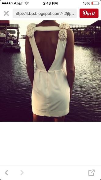 dress backless deep v back dress