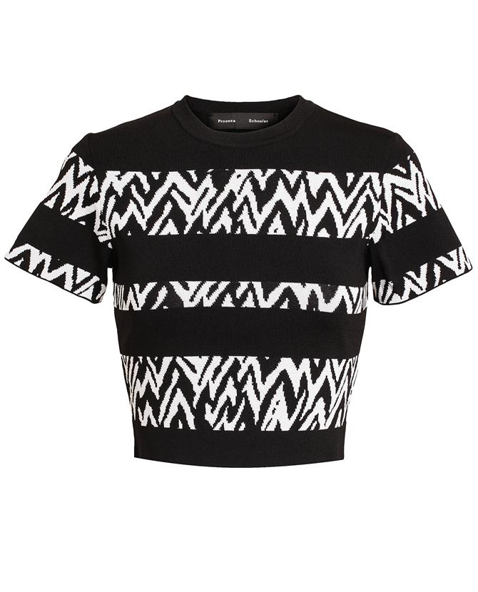 PROENZA SCHOULER | Zig-Zag Stretch-Ribbed Crop Top | Browns fashion & designer clothes & clothing