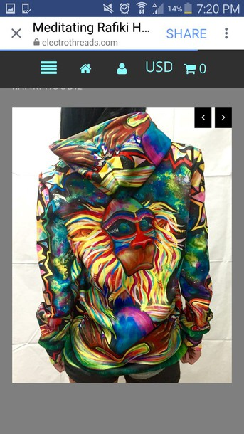 jacket multicolor hoodie