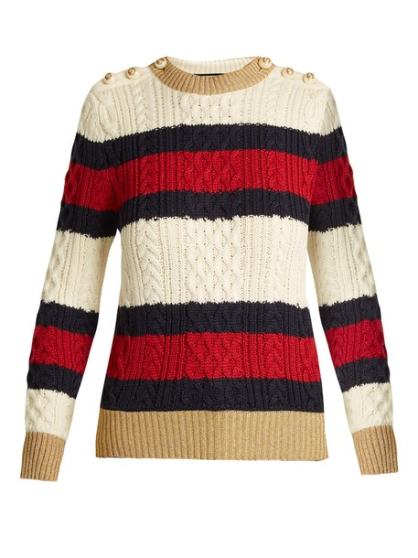 gucci sweater wool sweater wool knit navy