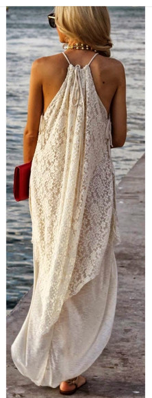 white dress long dress lace dress maxi dress white lace dress lace maxi dress white maxi dress flowy dress