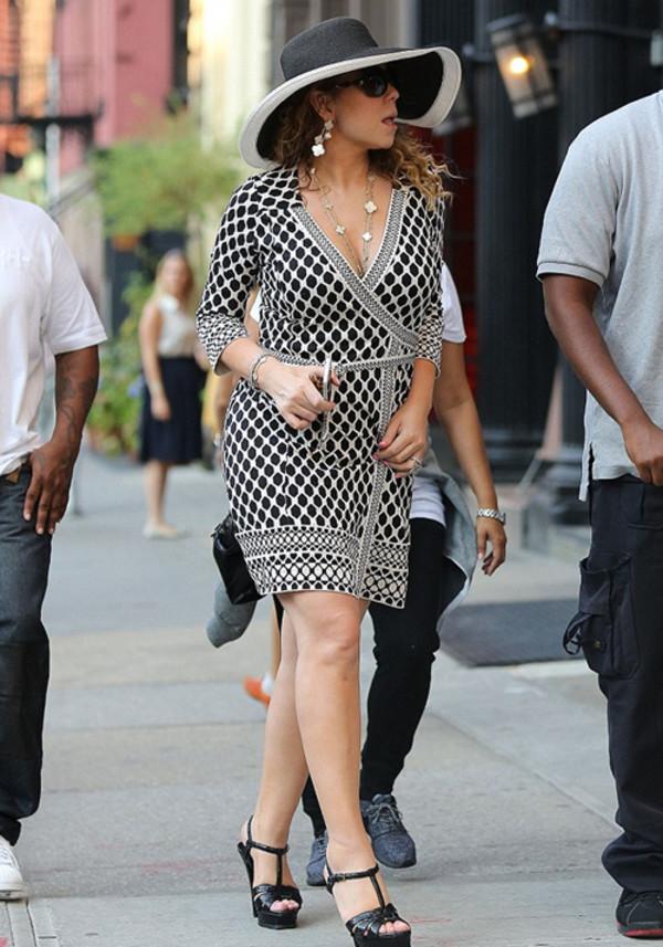 dress wrap dress mariah carey shoes