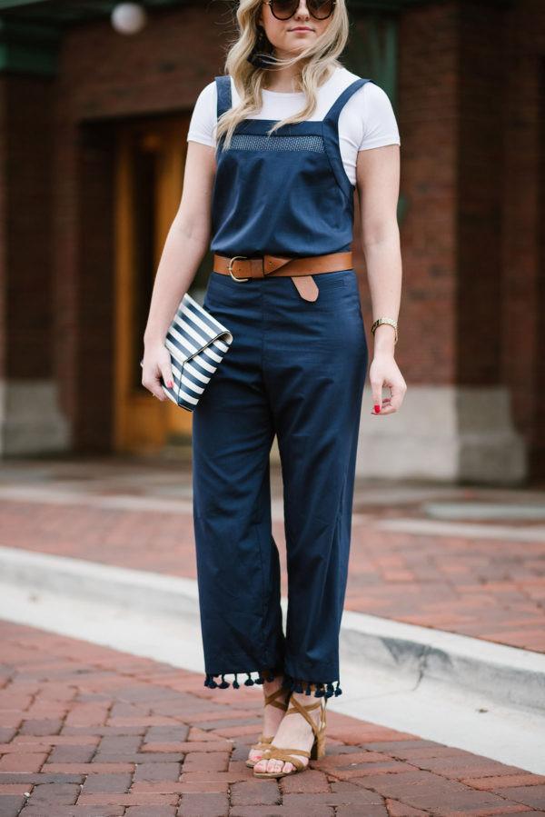 bows&sequins blogger jumpsuit t-shirt belt shoes bag sunglasses jewels