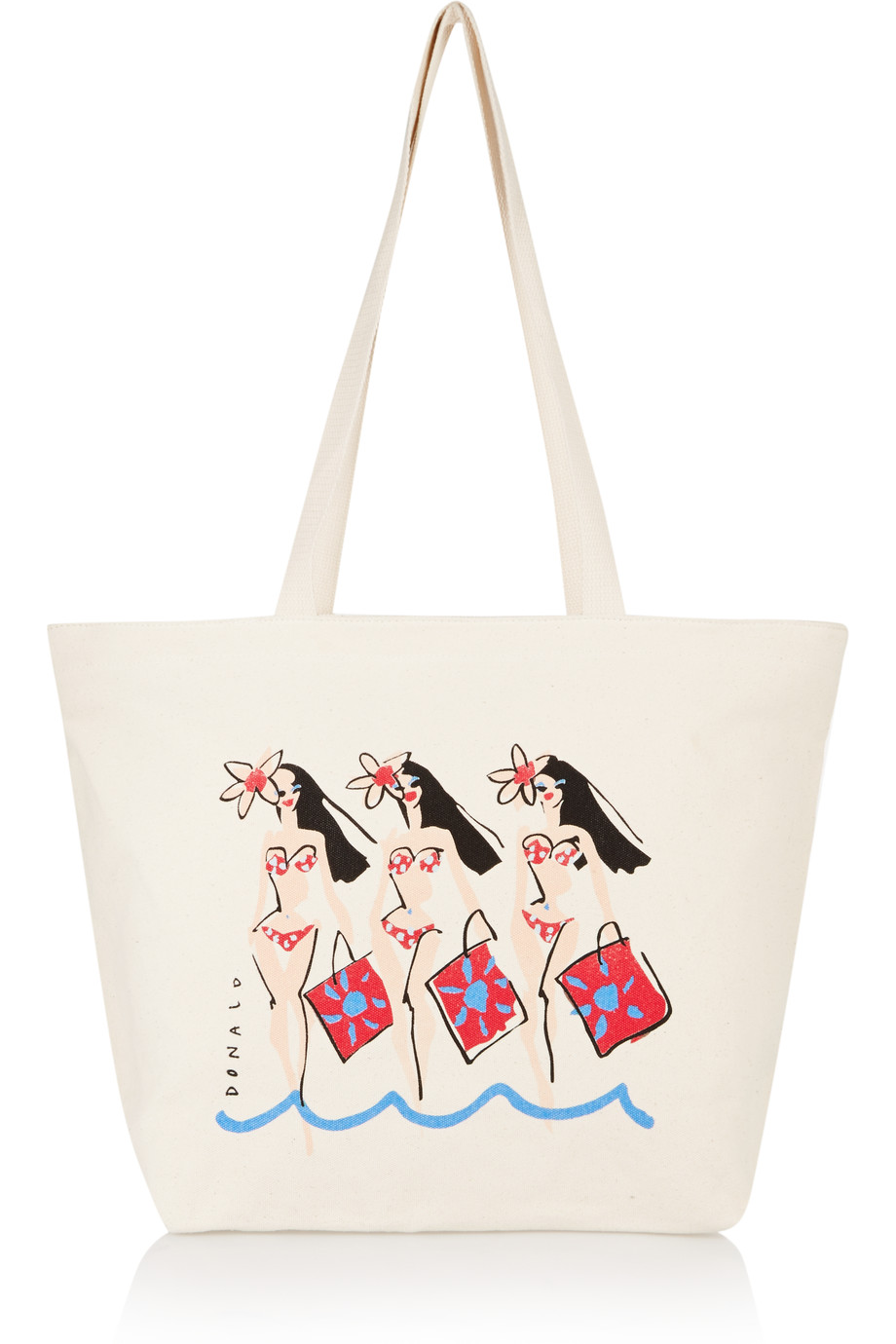 Solid and Striped   Donald Robertson Dottie printed canvas tote – 60% at THE OUTNET.COM