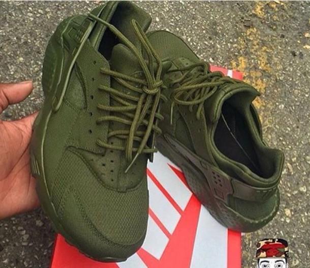 Shoes: olive green, huarache - Wheretoget