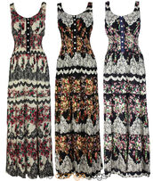 dress,retro,vintage,maxi dress,long  dress,country,country style,sleeveless,spring,summer dress,plus size,floral,flowers,lovely,cute,hippie,festival,hipster,dreams,cream,black,navy
