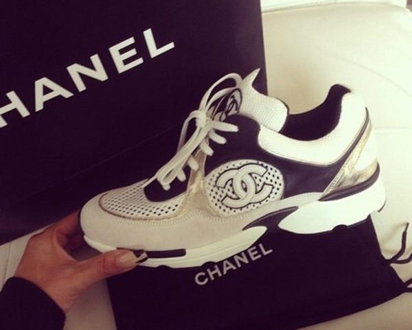 Chanel Sneakers Grey Chanel Sneakers Black Grey