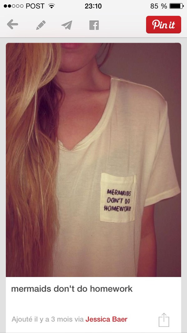 t-shirt loose mermaid homework pocket t-shirt pocket t-shirt quote on it