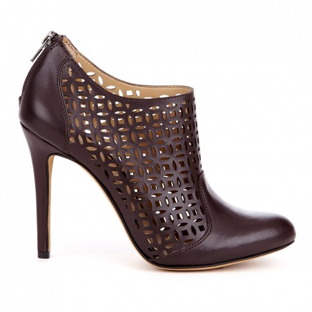 Sole Society - Laser cut booties - Zaily - Oxblood