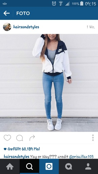 jacket nike instagram nike jacket nike windbreaker windbreaker sporty cute black white black and white blue and white jeans coat white and black wind breaker white & black sweater black and white jacket white nike windbreaker blue jeans white nikes grey top long hair